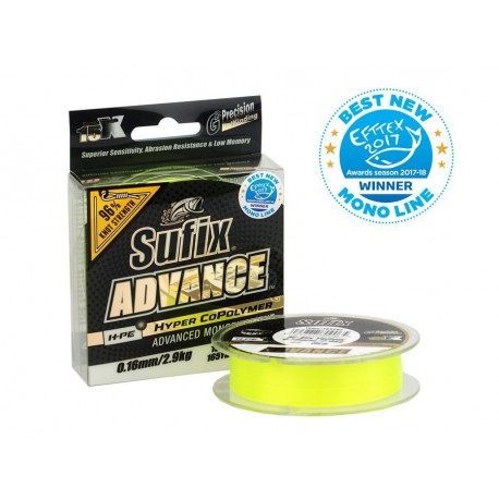 Sufix Advance G2 Hi-Viz Yellow 150 m