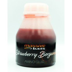 Massive Baits Amino Glug Strawberry-Bergamota 250 ml