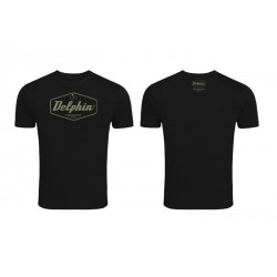 T-shirt Delphin Czechoslovakia Fishing Black